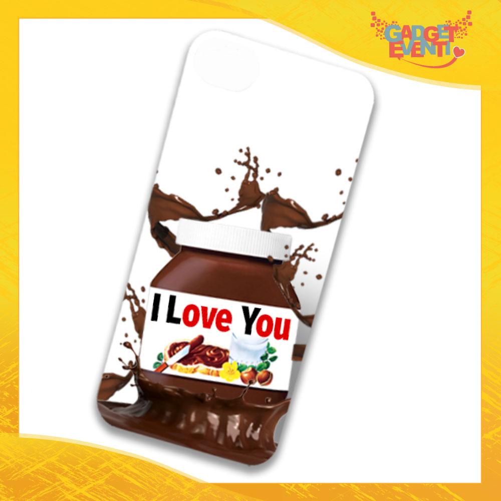 """Cover Smartphone Cellulare Tablet """"I Love You Testuale Cioccolato"""" San Valentino Gadget Eventi"""