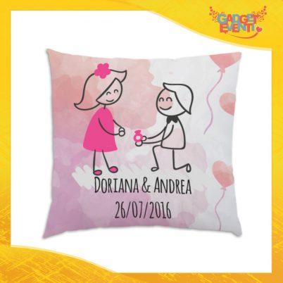 """Cuscino Quadrato Divano Letto Poltrona """"Dichiarazione D'Amore"""" Gadget Eventi"""