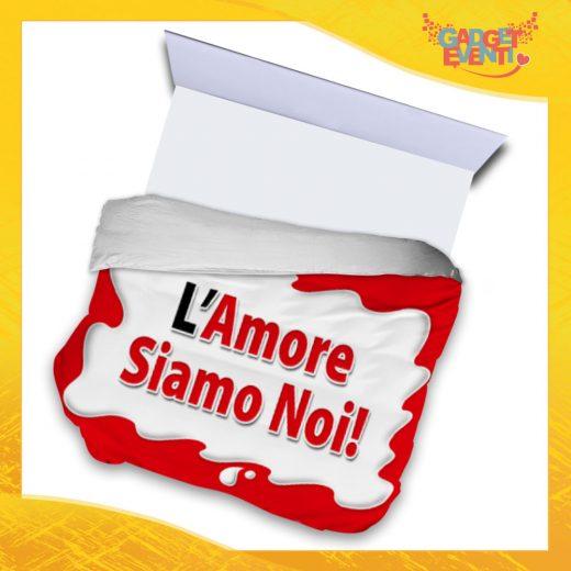 """Copripiumino Matrimoniale Biancheria da Letto """"L'Amore Siamo Noi Bar"""" San Valentino Gadget Eventi"""