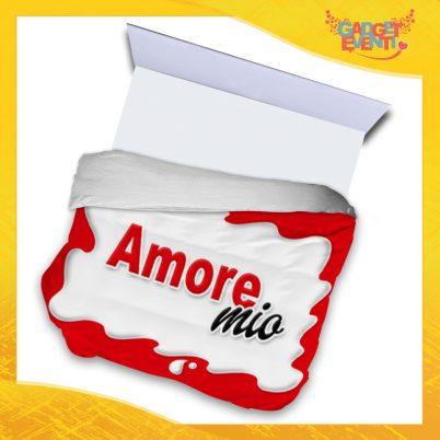 """Copripiumino Matrimoniale Biancheria da Letto """"Amore Mio Bar"""" San Valentino Gadget Eventi"""