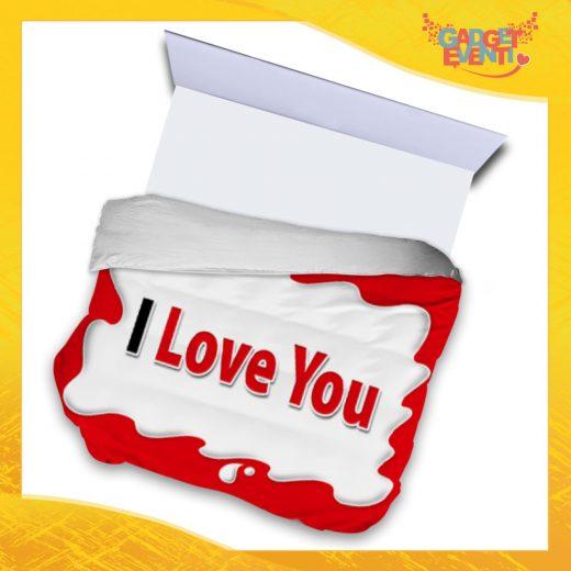 """Copripiumino Matrimoniale Biancheria da Letto """"I Love You Testuale Bar"""" San Valentino Gadget Eventi"""