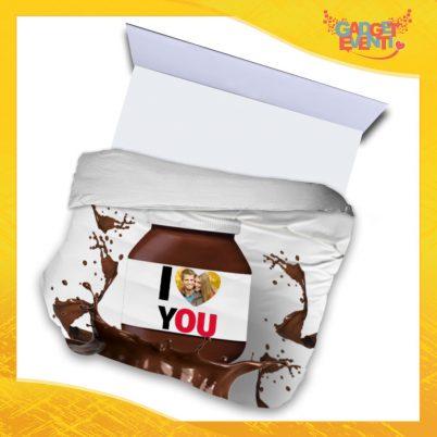"""Copripiumino Matrimoniale Biancheria da Letto """"I Love You Foto Personalizzata Cioccolato"""" San Valentino Gadget Eventi"""