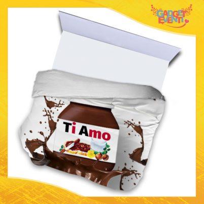 """Copripiumino Matrimoniale Biancheria da Letto """"Ti Amo Cioccolato"""" San Valentino Gadget Eventi"""