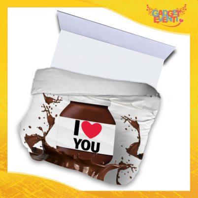 """Copripiumino Matrimoniale Biancheria da Letto """"I Love You Cioccolato"""" San Valentino Gadget Eventi"""