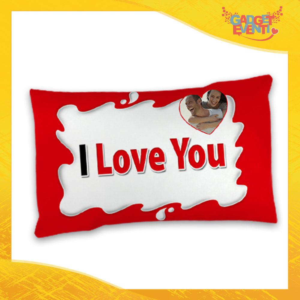 Federe Per Cuscini San Valentino.Federa Singola Love Per Cuscini Biancheria Da Letto Personalizzata I Love You Con Foto Bar