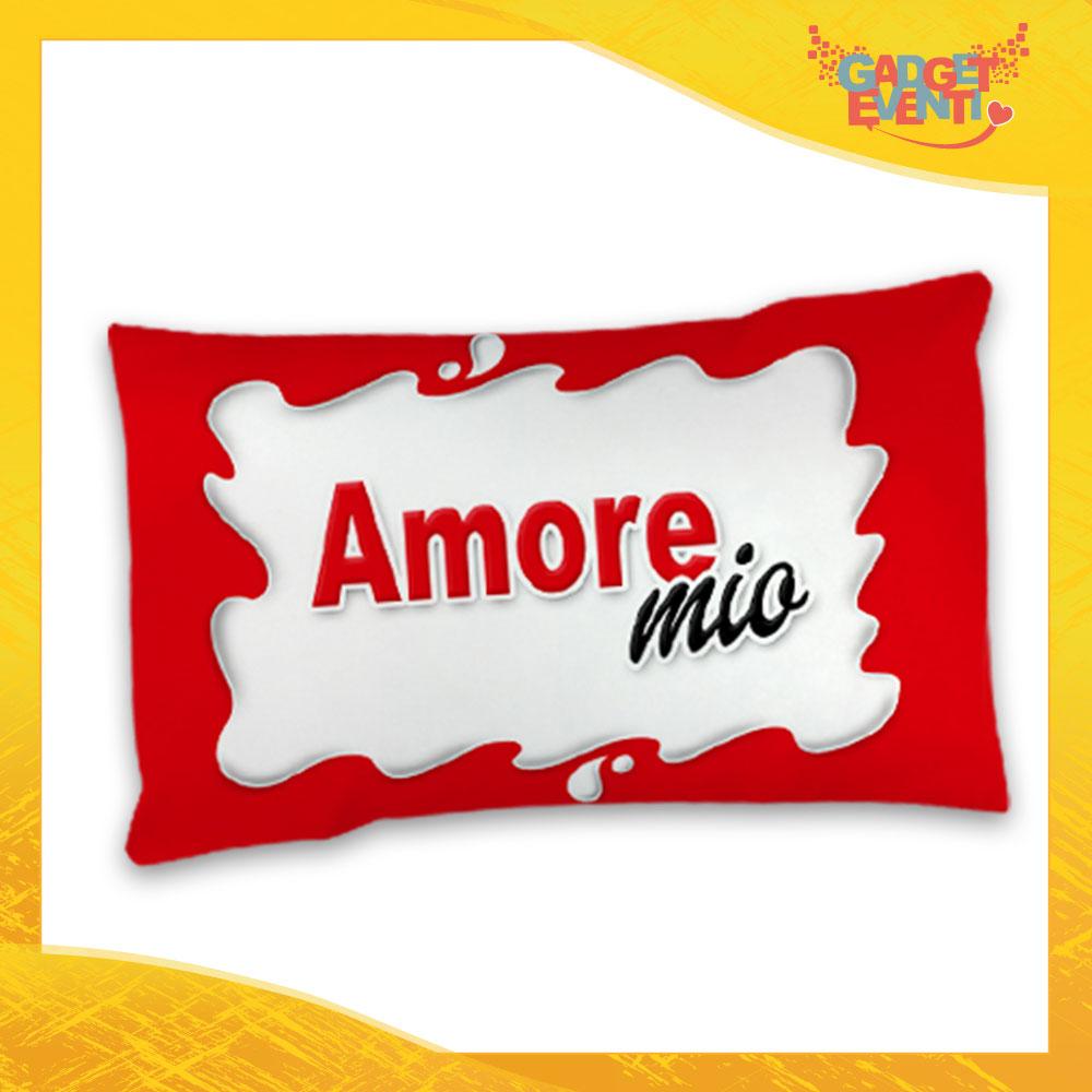 """Federa Singola per Cuscini Biancheria da Letto """"Amore Mio Bar"""" San Valentino Gadget Eventi"""