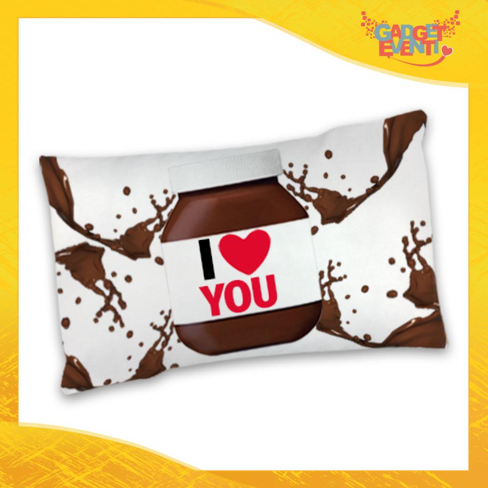 """Federa Singola per Cuscini Biancheria da Letto """"I Love You Cioccolato"""" San Valentino Gadget Eventi"""