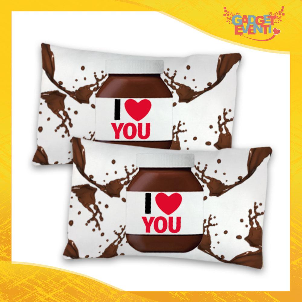 Federe Per Cuscini San Valentino.Coppia Di Federe Love Biancheria Da Letto Personalizzate I Love You Cioccolato