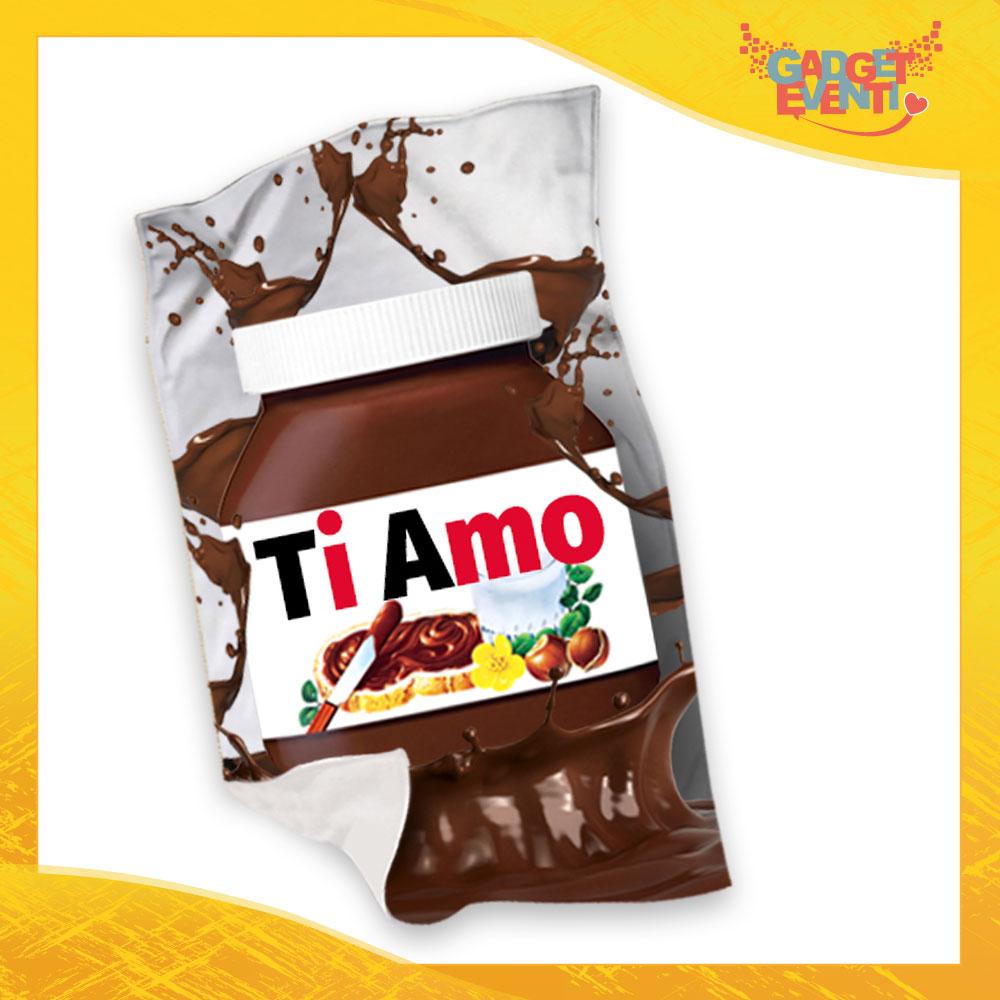 """Plaid Coperta in Pile """"Ti Amo Cioccolato"""" San Valentino Gadget Eventi"""