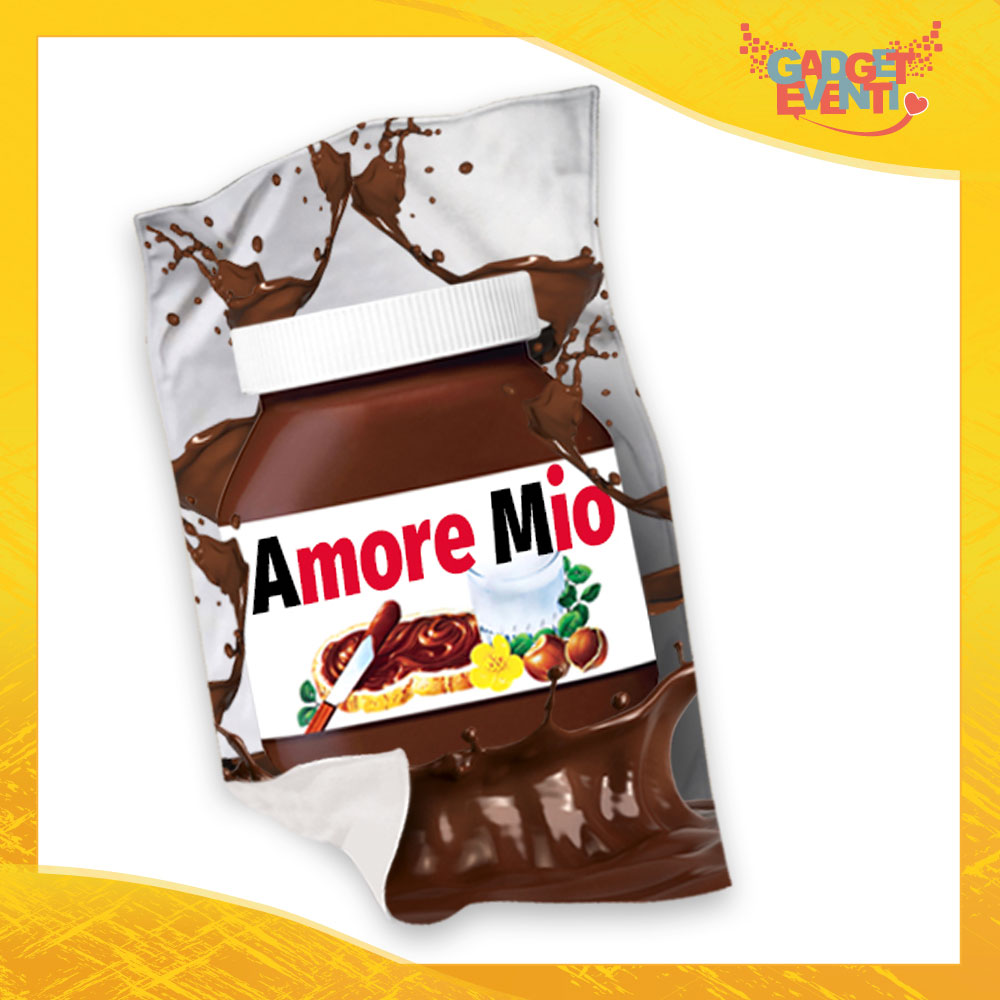 """Plaid Coperta in Pile """"Amore Mio Cioccolato"""" San Valentino Gadget Eventi"""