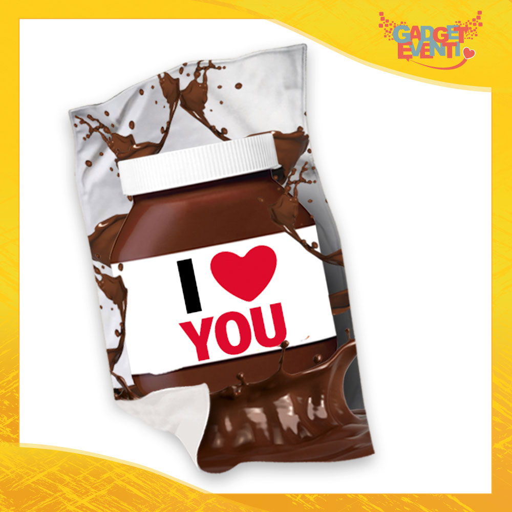 "Plaid Coperta in Pile ""I Love You Cioccolato"" San Valentino Gadget Eventi"