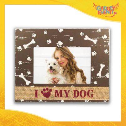 """Cornice Portafoto """"I Love My Dog"""" Foto Regalo Gadget Eventi"""