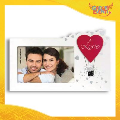 """Cornice Dell'Amore """"Mongolfiera Love Orizzontale"""" Portafoto San Valentino Gadget Eventi"""