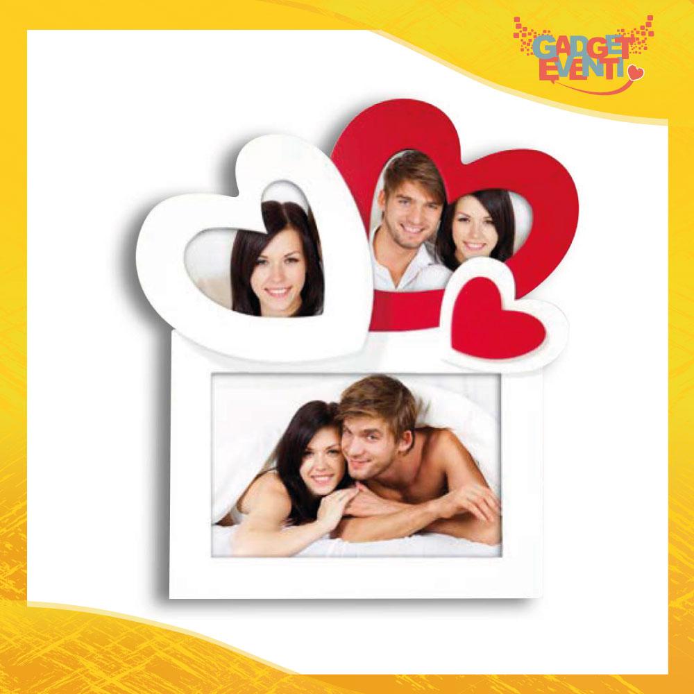 """Cornice Dell'Amore """"Double Big Heart"""" Portafoto San Valentino Gadget Eventi"""