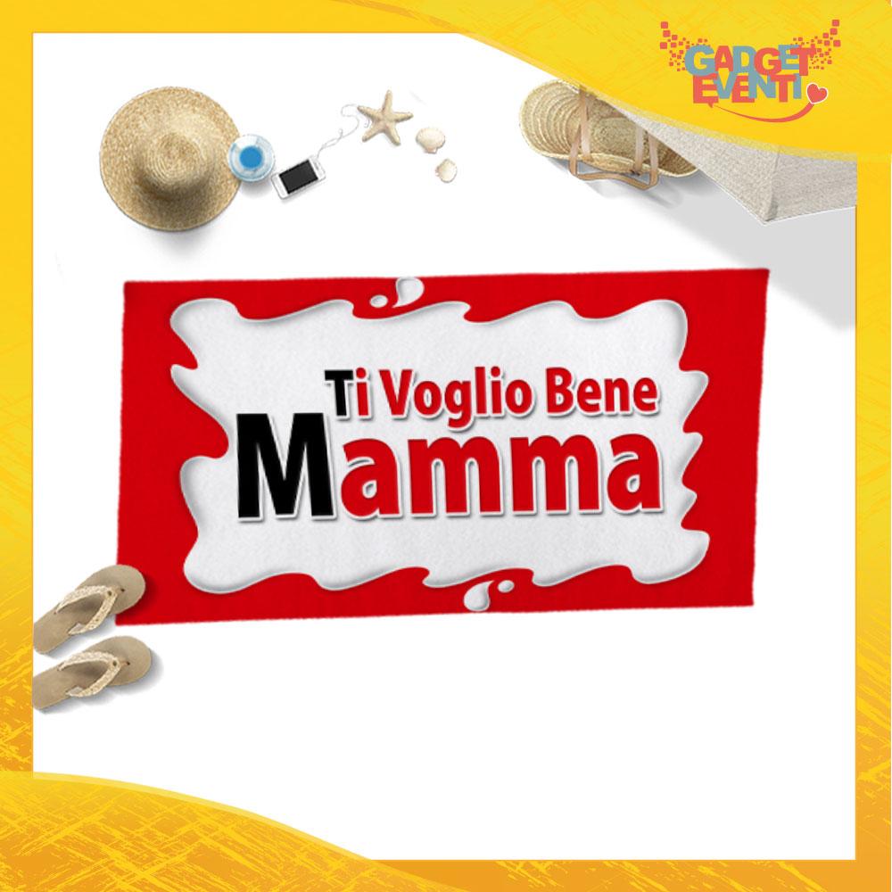 """Telo Mare Personalizzato """"Ti Voglio Bene Mamma Bar"""" Festa della Mamma Gadget Eventi"""