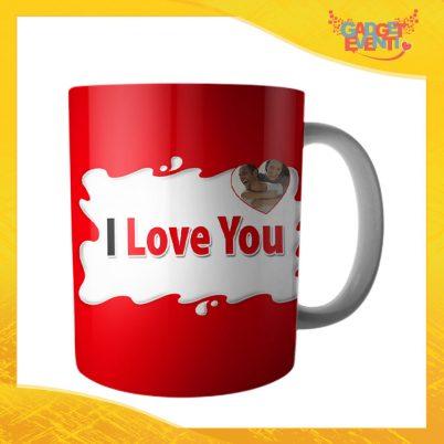 """Tazza dell'Amore Colazione Breakfast """"I Love You Foto Personalizzata Bar"""" San Valentino Gadget Eventi"""