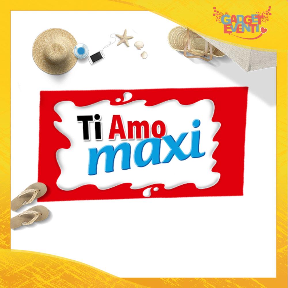 """Telo Mare Personalizzato """"Ti Amo Bar Maxi"""" San Valentino Gadget Eventi"""