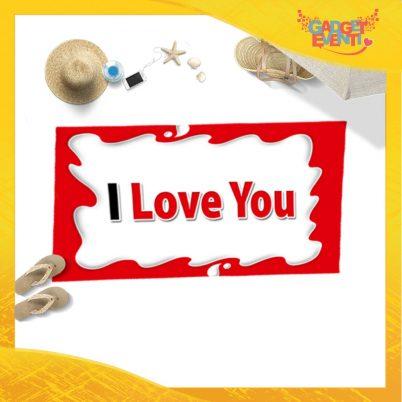 """Telo Mare Personalizzato """"I Love You Testuale Bar"""" San Valentino Gadget Eventi"""