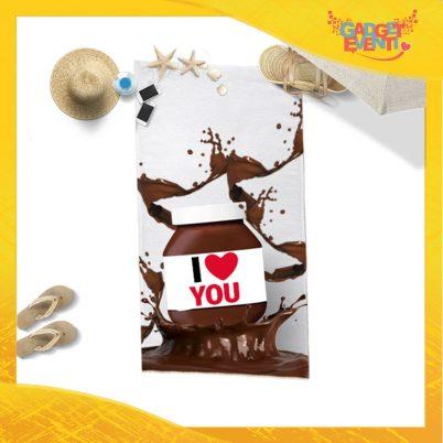 """Telo Mare Personalizzato """"I Love You Cioccolato"""" San Valentino Gadget Eventi"""