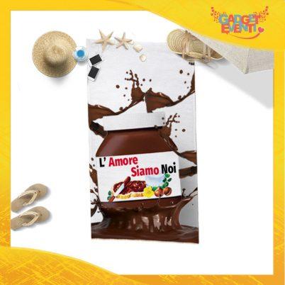"""Telo Mare Personalizzato """"L'Amore SIamo Noi Cioccolato"""" San Valentino Gadget Eventi"""