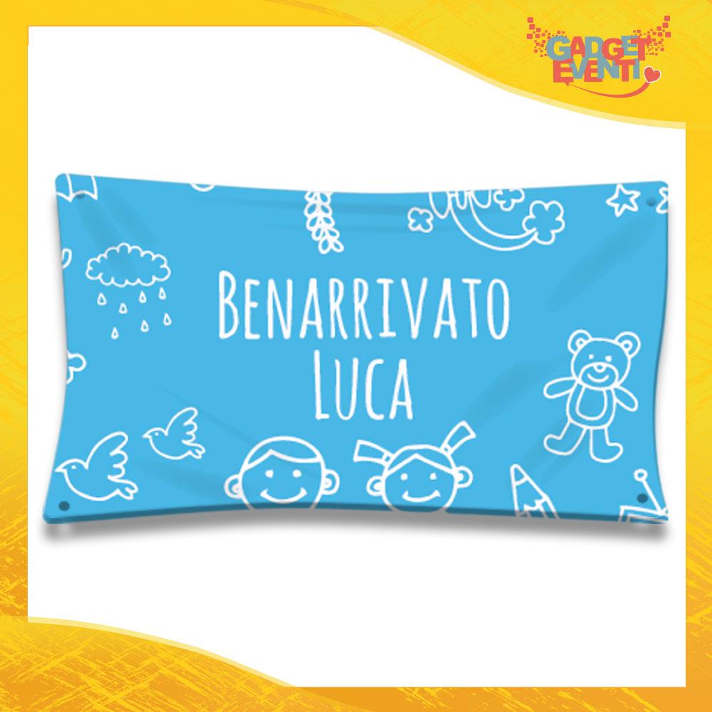 """Striscione Bambino Maschietto Neonato """"Amicizia"""" Baby Gadget Eventi"""