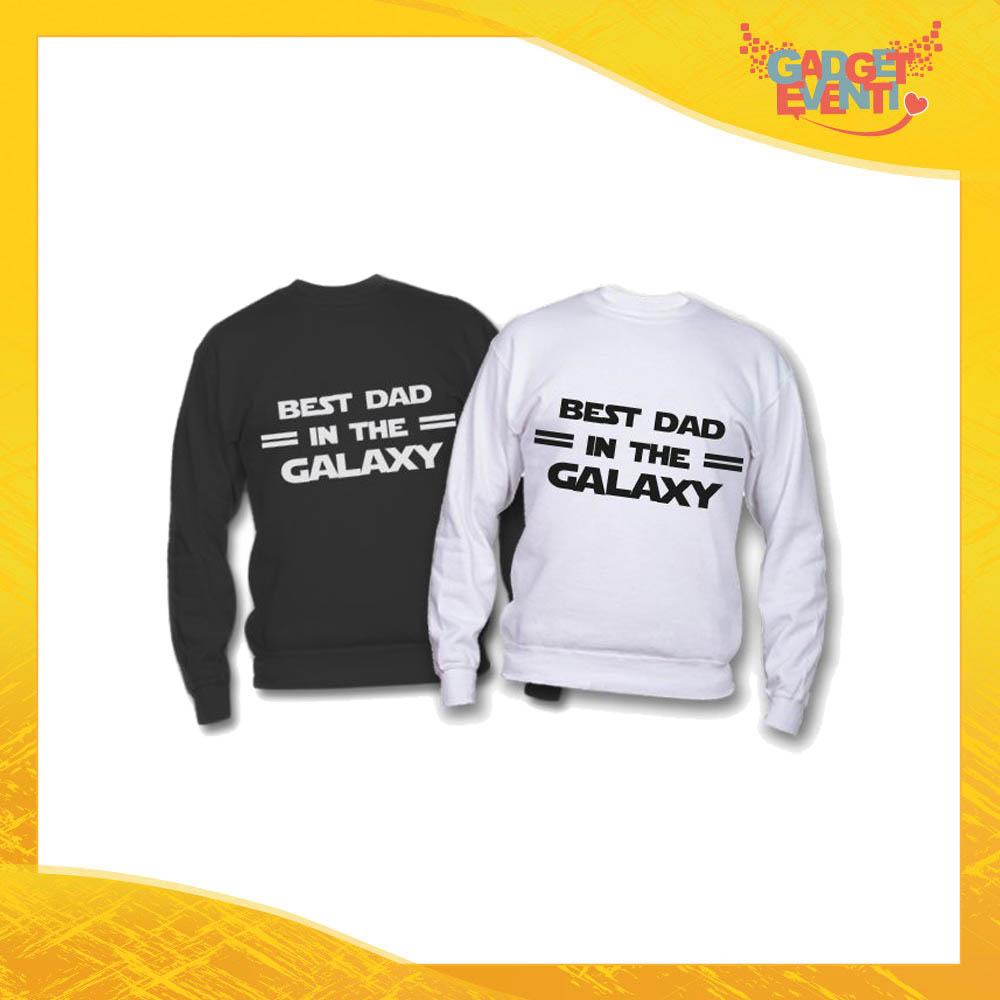 "Felpa ""Best Dad Galaxy"" Idea Regalo Originale Festa del Papà Gadget Eventi"