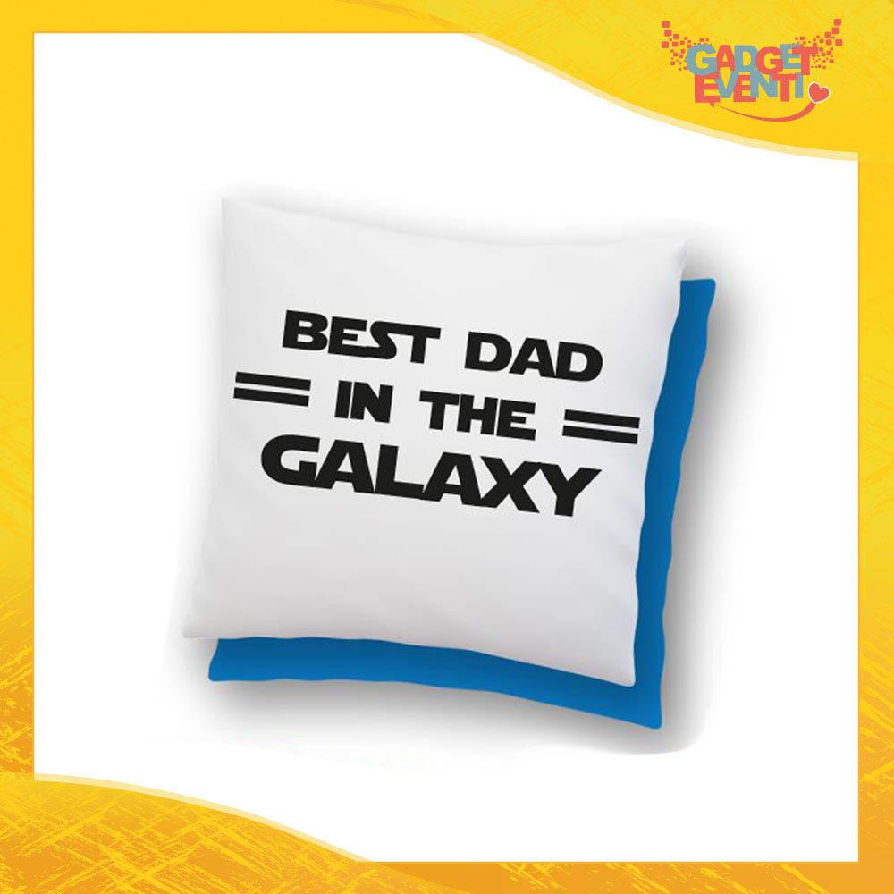 """Cuscino Quadrato """"Best Dad Galaxy"""" Idea Regalo Festa del Papà Gadget Eventi"""