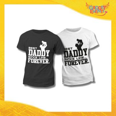"""Maglietta T-Shirt Regalo Festa del Papà """"Best Daddy Forever"""" Gadget Eventi"""