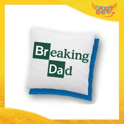 """Cuscino Quadrato """"Breaking Dad"""" Idea Regalo Festa del Papà Gadget Eventi"""