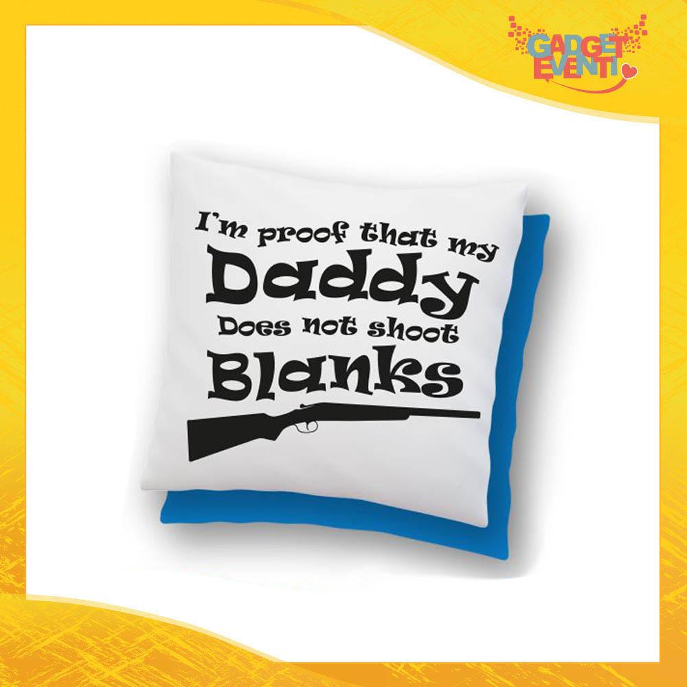"""Cuscino Quadrato """"Daddy Blanks"""" Idea Regalo Festa del Papà Gadget Eventi"""