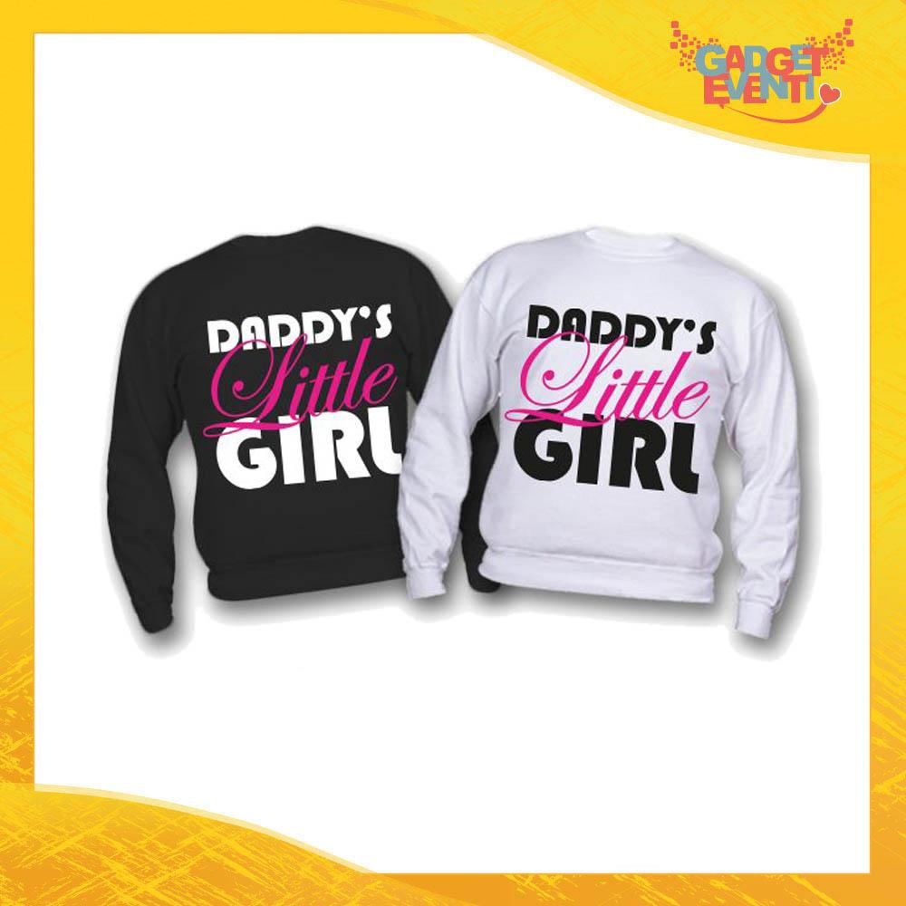 """Felpa Bimbo Femminuccia """"Daddy's Little Girl"""" Idea Regalo Festa del Papà Gadget Eventi"""
