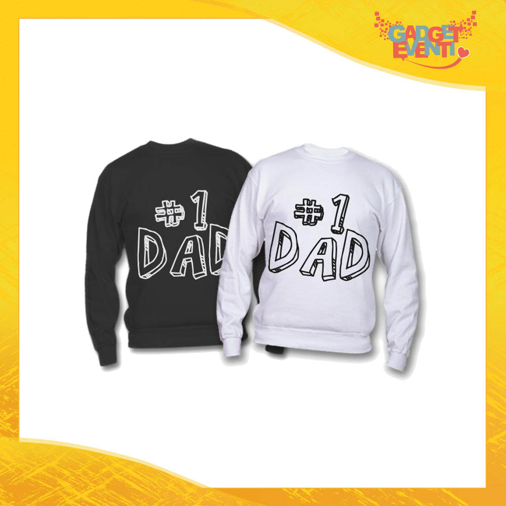 """Felpa """"First Dad"""" Idea Regalo Originale Festa del Papà Gadget Eventi"""