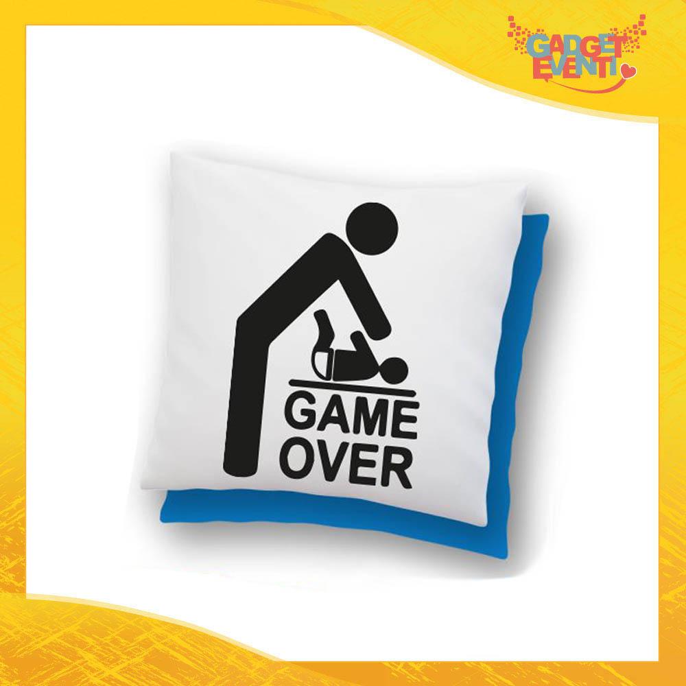 """Cuscino Quadrato """"Game Over"""" Idea Regalo Festa del Papà Gadget Eventi"""