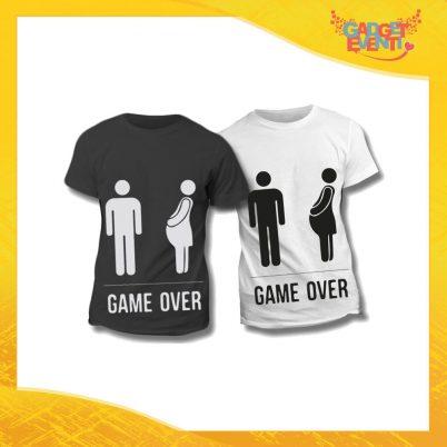 """Maglietta T-Shirt Regalo Festa del Papà """"Game Over Omino"""" Gadget Eventi"""