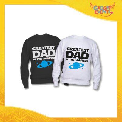 """Felpa """"Greatest Dad Universe"""" Idea Regalo Originale Festa del Papà Gadget Eventi"""