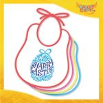"Bavetto Bavaglino Bimbo Maschietto ""Happy Easter"" idea regalo Pasqua Gadget Eventi"
