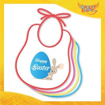"""Bavetto Bavaglino Bimbo Maschietto """"Happy Easter Uovo"""" idea regalo Pasqua Gadget Eventi"""