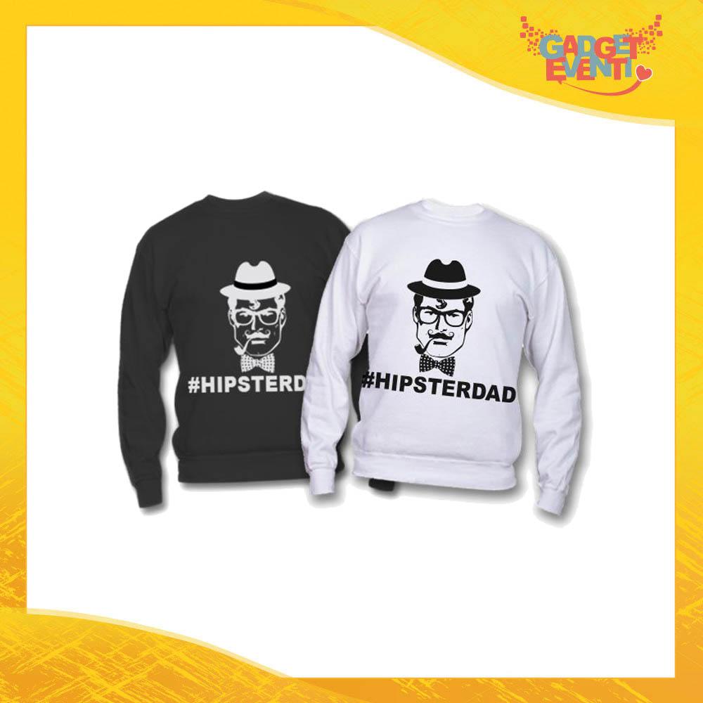 """Felpa """"Hipster Dad"""" Idea Regalo Originale Festa del Papà Gadget Eventi"""