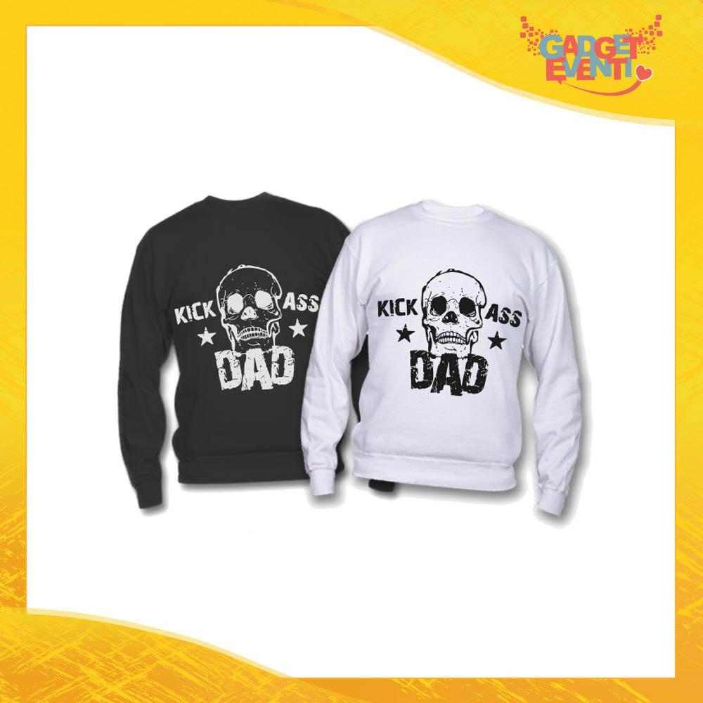 "Felpa ""Kick Ass Dad"" Idea Regalo Originale Festa del Papà Gadget Eventi"