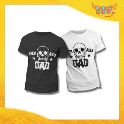 """Maglietta T-Shirt Regalo Festa del Papà """"Kick Ass Dad"""" Gadget Eventi"""