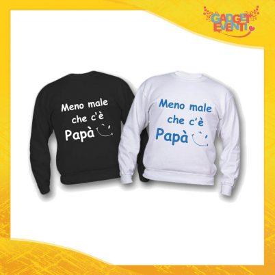 """Felpa Bimbo Maschietto """"Meno Male che c'è Papà"""" Idea Regalo Festa del Papà Gadget Eventi"""