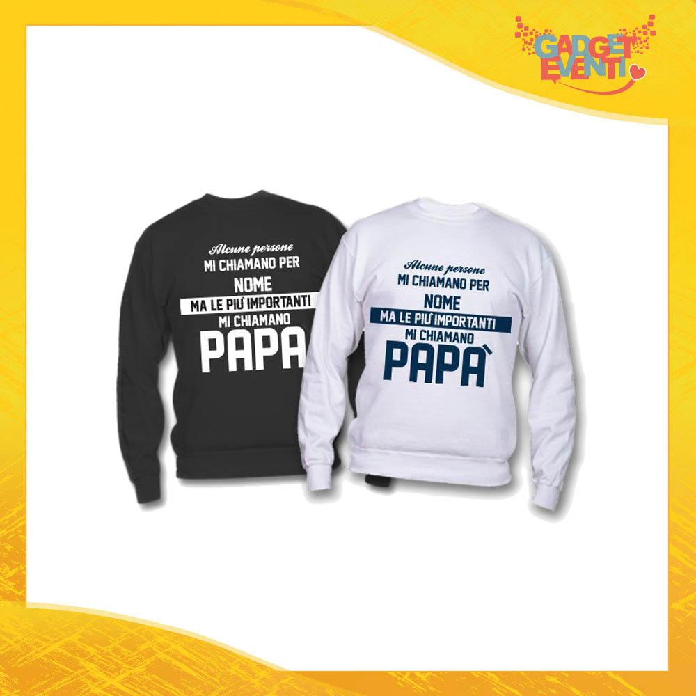 """Felpa """"Mi Chiamano Papà"""" Idea Regalo Originale Festa del Papà Gadget Eventi"""