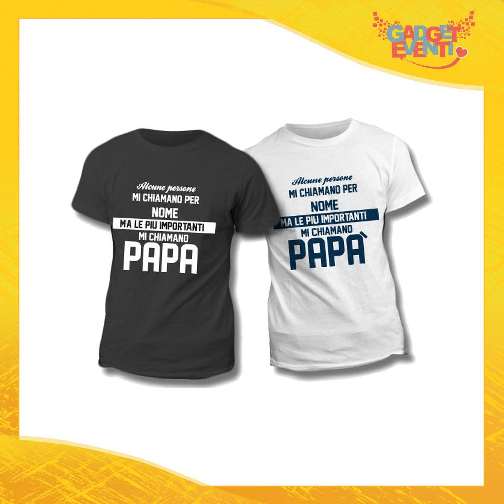 """Maglietta T-Shirt Regalo Festa del Papà """"Mi Chiamano Papà"""" Gadget Eventi"""