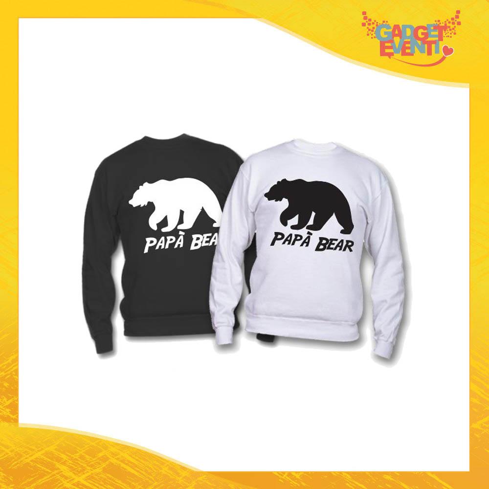 """Felpa """"Papà Bear Orso"""" Idea Regalo Originale Festa del Papà Gadget Eventi"""