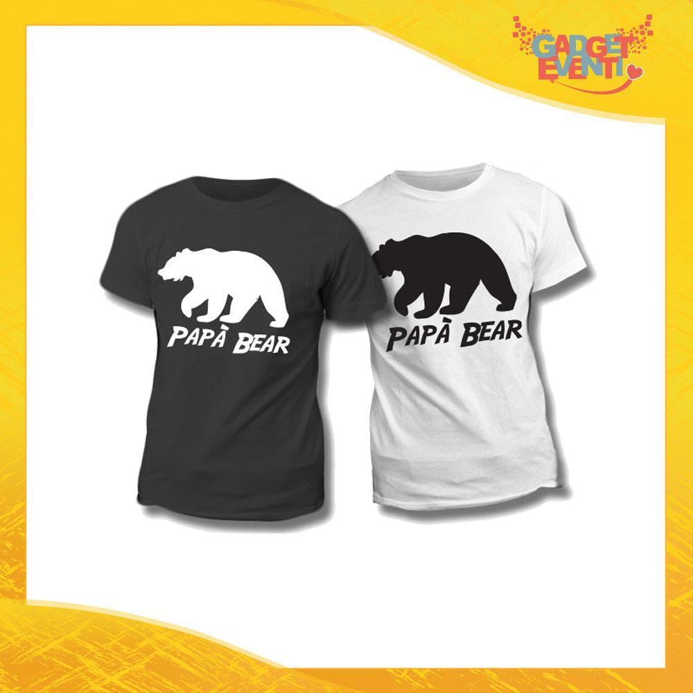 """Maglietta T-Shirt Regalo Festa del Papà """"Papà Bear Orso"""" Gadget Eventi"""