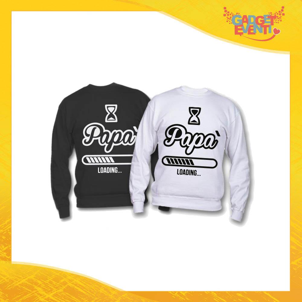 """Felpa """"Papà Loading"""" Idea Regalo Originale Festa del Papà Gadget Eventi"""