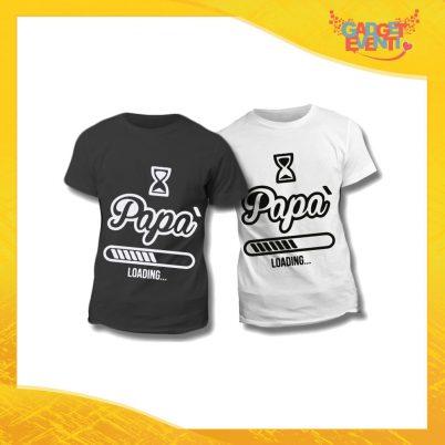"Maglietta T-Shirt Regalo Festa del Papà ""Papà Loading"" Gadget Eventi"