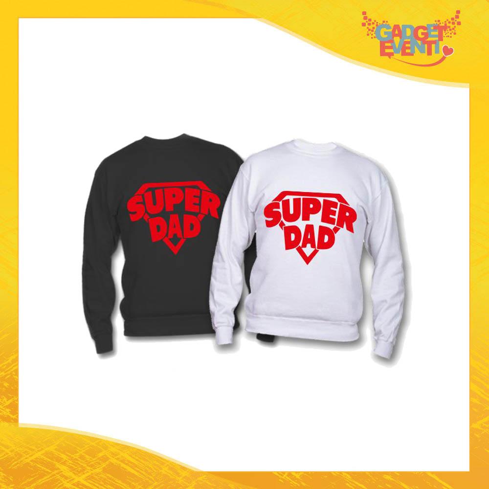 """Felpa """"Super Dad"""" Idea Regalo Originale Festa del Papà Gadget Eventi"""