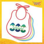 """Bavetto Bavaglino Bimbo Maschietto """"Uova con Nome"""" idea regalo Pasqua Gadget Eventi"""
