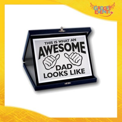 "Targa Decorativa ""Awesome Dad"" Idea Regalo Festa del Papà Gadget Eventi"